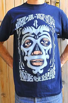 Mano Negra Camiseta Lucha Libre para hombre 7d1efbd08777c
